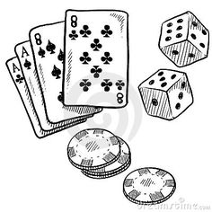 Illustration about Doodle style gambling vector illustration with playing cards, dice, and poker chips. Illustration of recreation, doodle, full - 22337673 Gambling Games, Gambling Quotes, Tatuajes New School, Design Facebook, Tattoo Line, Michael Johnson, Doodles, Card Tattoo, Dice Tattoo
