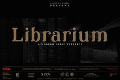 Librarium - Serif Font Family by Artistic Unique Currency Symbol, Bold Bold, Stylish Fonts, Bold Italic, Serif Typeface, Small Letters, Unique Presents, Punctuation, Font Family