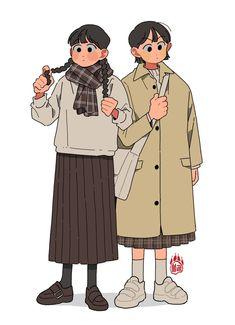 Cute Art Styles, Cartoon Art Styles, Character Illustration, Illustration Art, Korean Art, Character Design Inspiration, Pretty Art, Art Sketchbook, Cute Characters