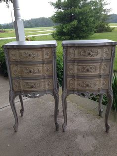 Vintage French Night Stand/ End Table Hand by Robbinsegg2015
