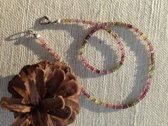 #Watermelon #Tourmaline #Crystal #Heart #Chakra #Faceted #Necklace by #v2Crystals ॐ