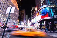 bustling night on times square, new york city