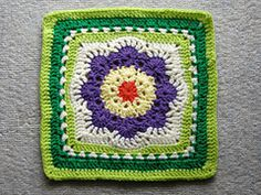 "Ravelry: Spring Fling 12"" Square pattern by April Moreland... Free pattern!"