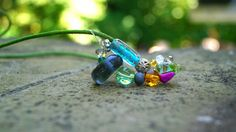 Lampwork necklace handmade perlen Kette basteln Hobby Steine Fotografie