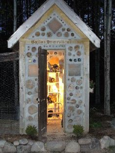 A cordwood chicken coop!