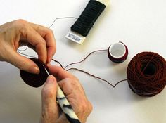 """Crochet over floral wire for creating """"sculptures"""" - Caroline Routh Tapestry Crocheting"""