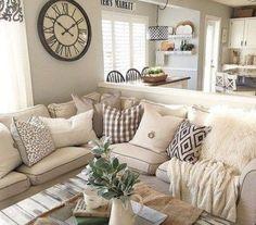 awesome 44 Comfy Farmhouse Living Room Design Ideas  https://about-ruth.com/2017/12/08/44-comfy-farmhouse-living-room-design-ideas/