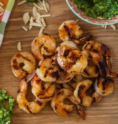 A new take on grilled shrimp, complete with a versatile cilantro pesto.