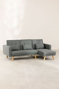 Chaise Longue 4-zitsbank in bekerstof - SKLUM Single Sofa Bed, Sofa Bed, Chaise, Sofa, Bed, Chaise Longue, Single Sofa, Sofa Cama, Three Seater Sofa Bed