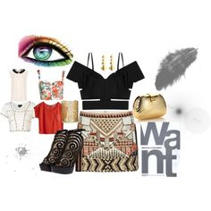 Some ideas to waer this skirt, created by alexandran on Polyvore