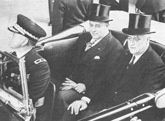 Anastasio Somoza-FDR is seen here riding with Anastasio Somoza.  Somoza was a Latin American leader who was well accepted by the United States for his anti-communism ideals.  The United states supported his anti communist strongholds in Nicaragua.
