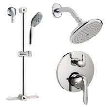 """View the Hansgrohe HG-T202 E Shower Faucet with Thermostatic Trim, Volume Control & Diverter Trim, Metal Lever Handles, 24"""" Wall Bar, Shower Arm, Single Function Shower Head and Multi Function Hand Shower Less Valve at FaucetDirect.com."""