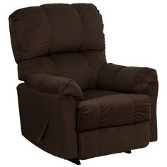 Flash Furniture Contemporary Top Hat Chocolate Microfiber Rocker Recliner [AM-9320-4171-GG]