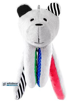 Whisbear Fluffy Humming Sleep Aid Bear Newborn Sensory Toy Cuddly Teddy Bear | Funswim