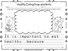 Draw and write about healthy eating FREEBIE!