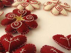 Adornos navideños de fieltro | Detalle | Fabi | Flickr