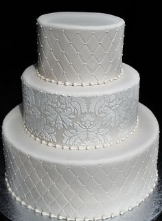 Ivory Quilt and Damask