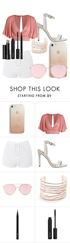 """""""#58"""" by makmoky2 ❤ liked on Polyvore featuring Rebecca Minkoff, Topshop, LMNT, Alexis Bittar, Arbonne and MAC Cosmetics"""