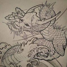 Dragon sketch.. #art #asian #asiantattoo #sketch #loveart #artwork #irezumicollective #irezumi #chronicink #drawing #asianink #dragon #Chinesedragon #dragonsketch Asian Dragon Tattoo, Dragon Sleeve Tattoos, Japanese Dragon Tattoos, King Tattoos, Body Art Tattoos, Dragon Sketch, Dragon Artwork, Asian Tattoos, Japan Tattoo