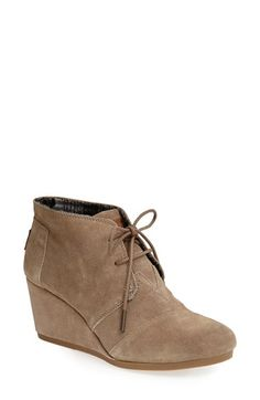 LOVE this wedge bootie TOMS