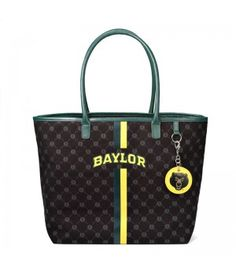 Love it! // #Baylor Bears Canvas Tote with Mirror Charm