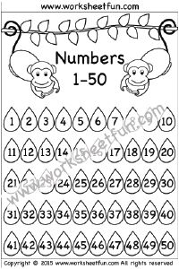 Number Chart – 1-50