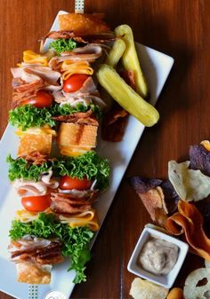 Presenting the classic Club Sandwich, on a stick.