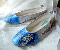 Wedding Shoes Fairy tale wedding Cinderella Glass by norakaren, $250.00