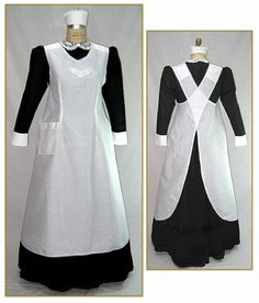 ... for Women & Men - 381-edwardian-maids-cross-strap-apron--style-0339-cr