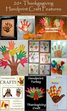 Who knew there were so many ways to make a handprint or footprint turkey? From paper plate crafts to headbands, here 20+ Thanksgiving Handprint Crafts.