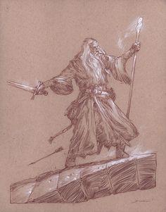 Gandalf on the Bridge of Khazad-dum by DonatoArts.deviantart.com on @DeviantArt
