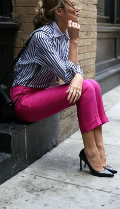 Image result for what to wear with navy pants in the winter