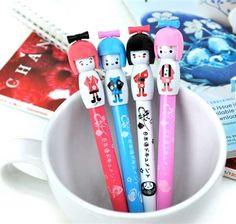 Erasable Pens - Japanese Doll Erasable Pens Collection   CoolPencilCase.com