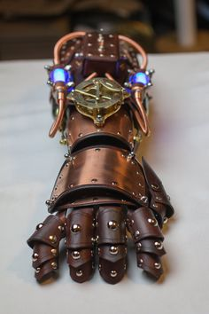 Powered Steampunk Gauntlet by CraftedSteampunk on Etsy