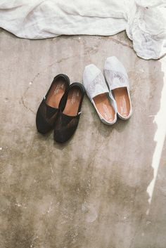 Sheer beauty in TOMS Classic shoes.