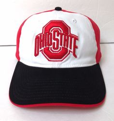 unworn OHIO STATE BUCKEYES HAT Relaxed Fit Dad FLEX FIT M L (best4 7-1 4 7-3  8) 6f7589cc56ad