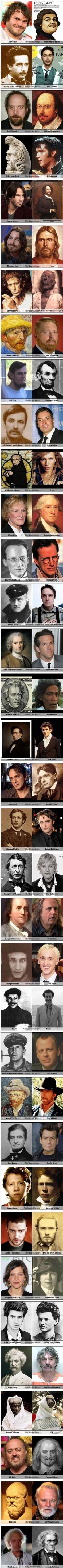 Separated by time: Celebrities who look like historical people.  Keith Richards is my fav.  LOL