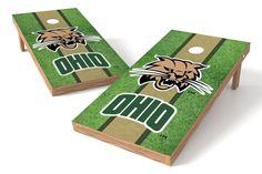 Ohio University Bobcats Cornhole Board Set - Field (w/Bluetooth Speakers)