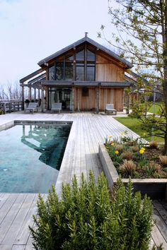 pool with large deck