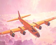 "Nakajima Attack-Bomber ""RENZAN"" [JAPAN Navy]    全幅:32.54m 、全長:22.94m、 総重量:26,800kg、 最大速度:593km/h  発動機:中島「誉」24型ル 空冷複列18気筒排気タービン付2,000馬力×4 、  搭載量:9,400kg、爆弾:2,000kg×2または60kg×18  武装:20mm機銃×6、13mm機銃×4、乗員:7名  初飛行:1944年10月"