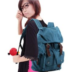 unisex vintage bag classic backpack casual canvas bag travel school shoulder Bag Bookbag ipad bag messenger bag for teenage girls/boys(Blue)... Hiking Backpack, Travel Backpack, Messenger Bags For School, Hoodie Pattern, Vintage Canvas, Winter Hoodies, Canvas Leather, School Bags, Backpacks