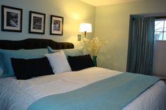 Master Bedroom idea.  Looks peaceful and simple :) just the way I like it