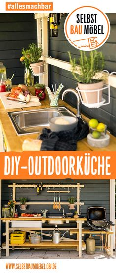 DIY-Outdoorküche: Für die ultimativen Grillfans Outdoor kitchen Alfons is ideal for barbecuing with family and friends outside. Now design your stylish outdoor kitchen according to your wishes. Barbacoa, How To Cook Pasta, How To Cook Chicken, Gazebo Diy, Pergola Patio, Barbecue Grill, Grilling, Infrared Grills, Diy Outdoor Kitchen