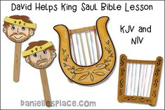 David Plays His Lyre for King Saul Bible Crafts and Bible Lesson Sunday School Games, Sunday School Crafts For Kids, Bible School Crafts, Bible Crafts For Kids, Sunday School Lessons, Preschool Bible Lessons, Bible Lessons For Kids, Bible Activities, David And Saul