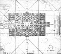 Le Corbusier's projected City for Three Million, 1922