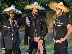 Los Hermanos Reyes (smiling) from Fuego En La Sangre. From left to right: Pablo Montero - Franco Reyes Eduardo Yanez - Juan Reyes Jorge Salinas - Oscar Reyes