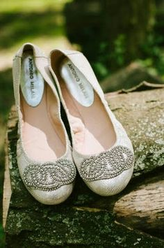 """My wedding shoes!  Who wants to walk down the aisle in 4"""" heels? Thanks to these beautiful Antonio Melani flats, my feet will be feelin' pretty, and comfy!"""