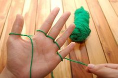 Finger Knitting! I can't tell you how many scarves I made like this! My students learned how to do it and made them to sell at Market Day.