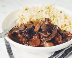 Vegan Mushroom Bourguignon Recipe - Slow cook in Crock pot for @2 hours instead of pressure cooker