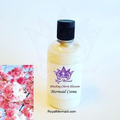 Blushing Cherry Blossom Lux Mermaid Creme  Take our quiz to find your perfect fragrance! RoyalMermaid.com #royalmermaid #thecaptain #nomoredryskin #soothing #eczema #hormonesafe #pcossafe #pcos #psoriasis #shopsmall #gifts #birthday #bathfizzies #cleanser #skinpolish #mermaid #mermaidcreme #seasoak